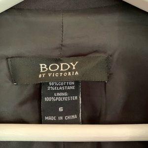 Body by Victoria. black button sleeve blazer (6)